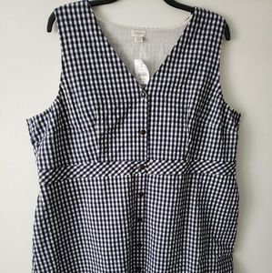 J Crew classic Black and white Gingham dress